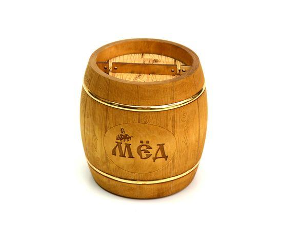 Бочонок для меда «Бондарь» темный 1,0 кг, фото , изображение 2