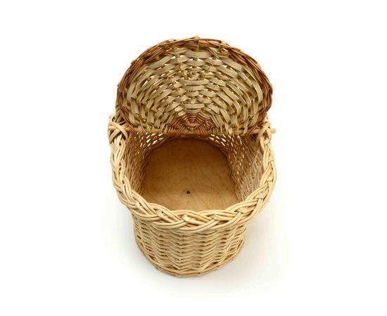 Корзина плетеная с крышкой для пикника малая, фото , изображение 3