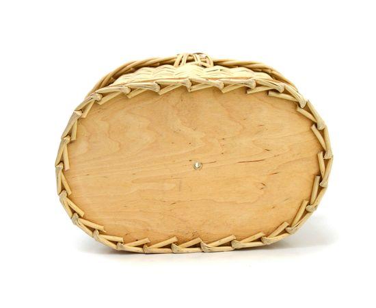 Корзина плетеная с крышкой для пикника малая, фото , изображение 5