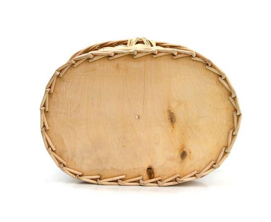 Корзина плетеная с крышкой для пикника средняя, фото , изображение 4