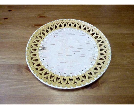 Тарелка из бересты под роспись D29, фото