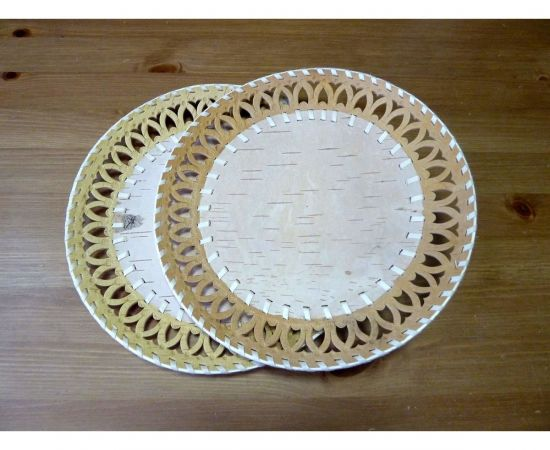 Тарелка из бересты под роспись D29, фото , изображение 3