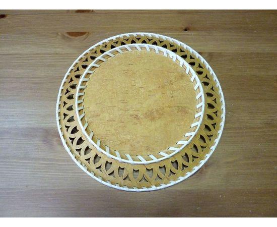 Тарелка из бересты под роспись D29, фото , изображение 2