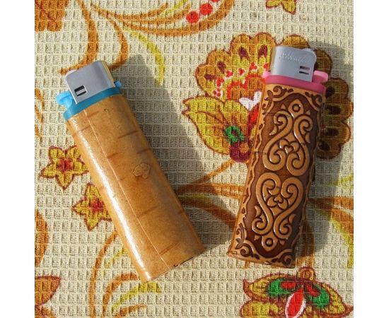 Зажигалка декорированная берестой, фото , изображение 2