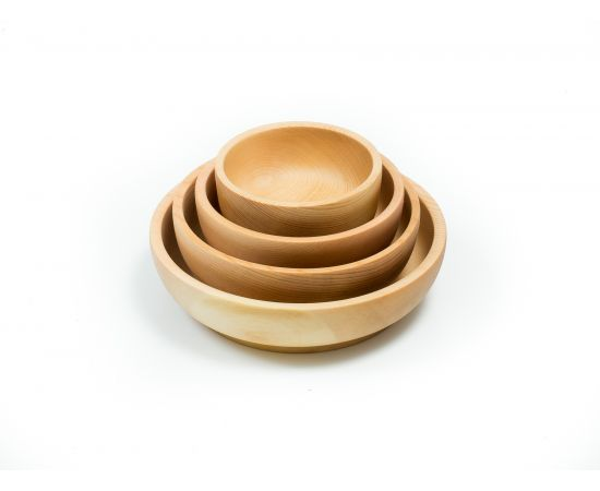 Набор деревянной посуды из кедра (прямой), фото , изображение 4