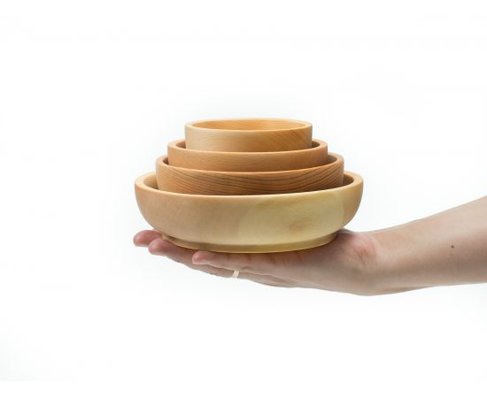 Набор деревянной посуды из кедра (прямой), фото , изображение 7