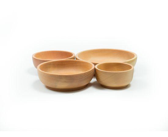 Набор деревянной посуды из кедра (прямой), фото , изображение 3