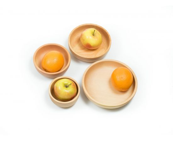 Набор деревянной посуды из кедра (прямой), фото , изображение 5