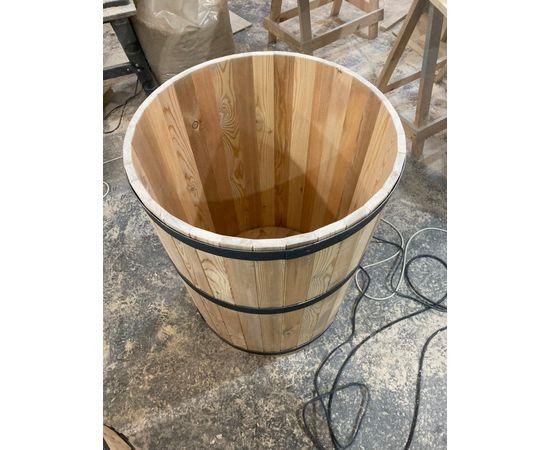 Кадка деревянная для растений. Кадка для пальмы. Кашпо для крупных растений, фото , изображение 3