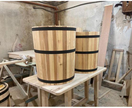 Кадка деревянная для растений. Кадка для пальмы. Кашпо для крупных растений, фото , изображение 2