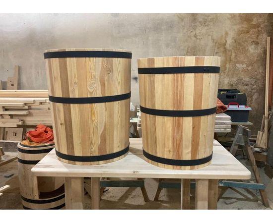 Кадка деревянная для растений. Кадка для пальмы. Кашпо для крупных растений, фото