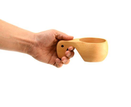 Кружка деревянная Кукса №3. Финская кружка, фото , изображение 6
