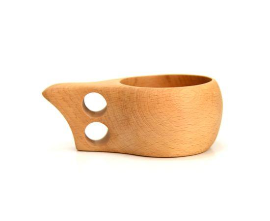 Кружка деревянная Кукса №1. Финская кружка, фото