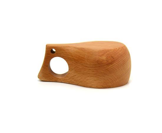 Кружка деревянная Кукса №2. Финская кружка, фото , изображение 2