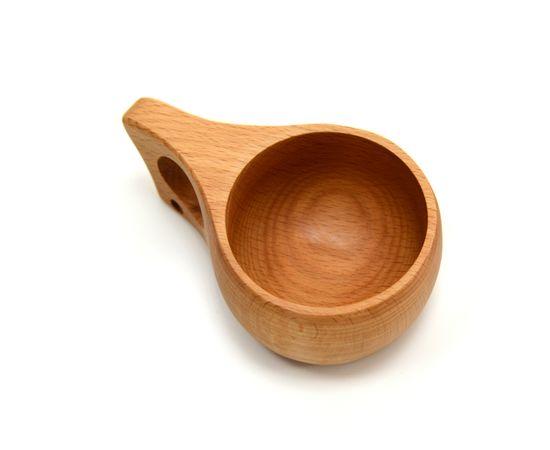 Кружка деревянная Кукса №2. Финская кружка, фото , изображение 3