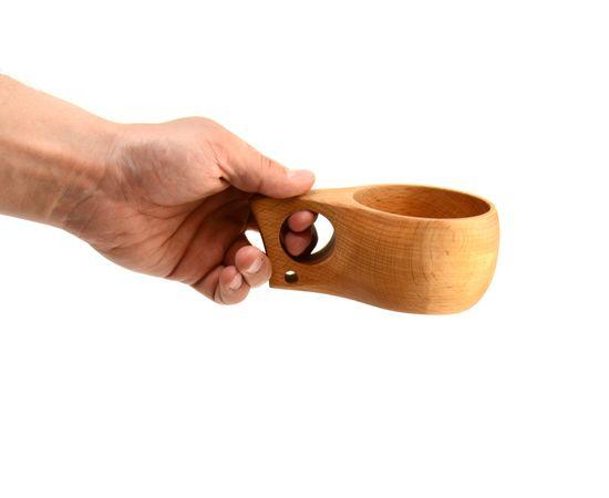 Кружка деревянная Кукса №2. Финская кружка, фото , изображение 5