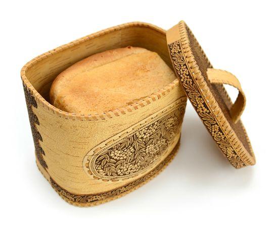 """Хлебница из бересты """"Рябина"""", фото , изображение 5"""