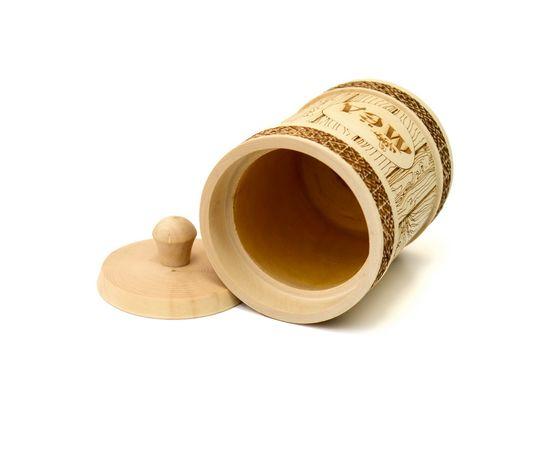 Туесок деревянный для меда 1,0 кг, фото , изображение 3