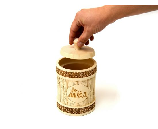 Туесок деревянный для меда 1,0 кг, фото , изображение 5