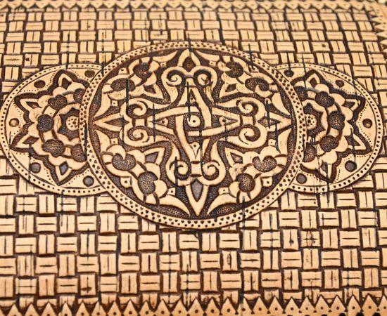 Сундук из бересты на шарнире. Деревянный ларец, фото , изображение 3