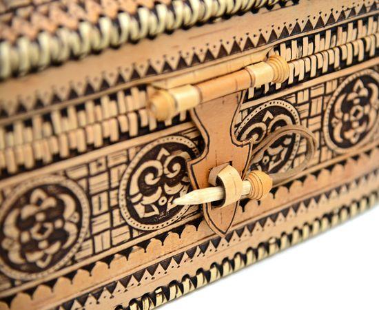 Сундук из бересты на шарнире. Деревянный ларец, фото , изображение 8