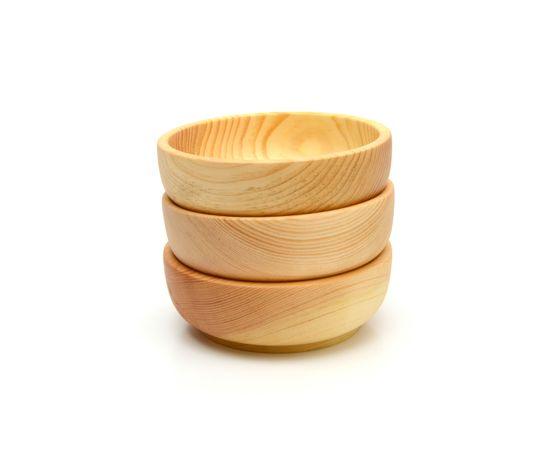 Тарелка деревянная средняя D15,5 H5, фото , изображение 5