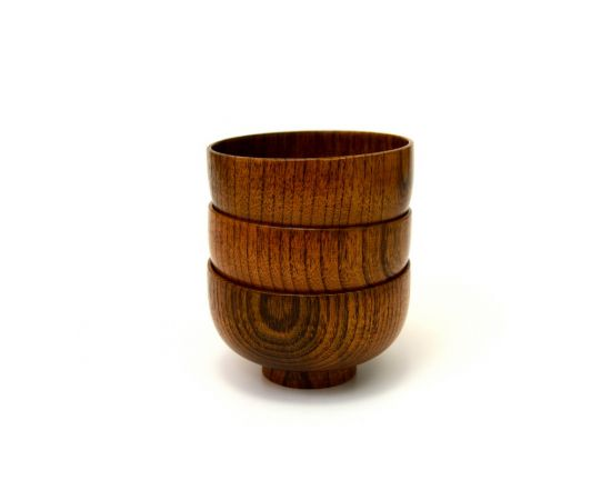 Пиала деревянная унаби D14 H8, фото , изображение 7