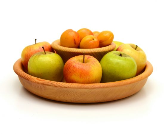 Фруктовница большая из дерева. Чаша для фруктов D30 H9, фото , изображение 2