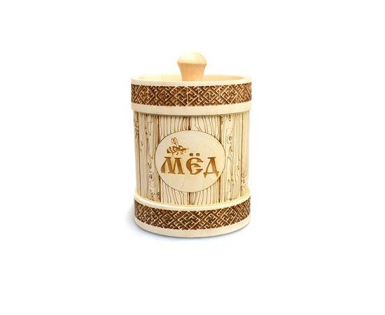 Туесок деревянный для меда 1,0 кг, фото
