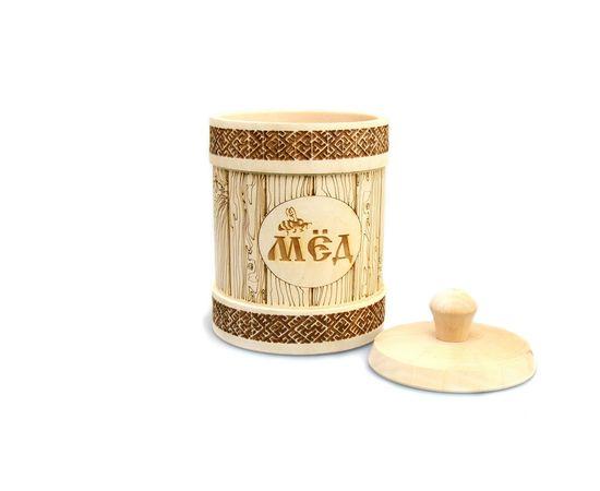 Туесок деревянный для меда 1,0 кг, фото , изображение 6