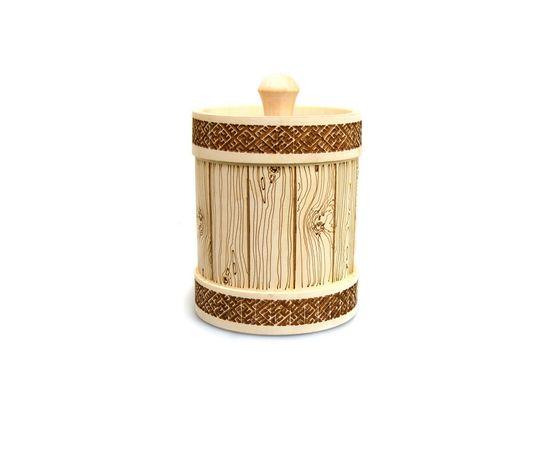 Туесок деревянный для меда 1,0 кг, фото , изображение 2