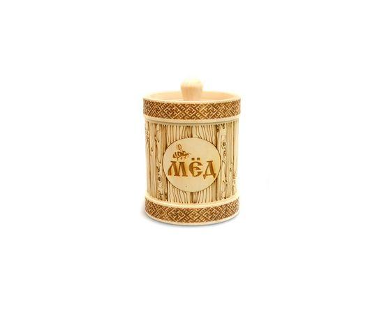 Туесок деревянный для меда D9,5 - 0,5 кг, фото