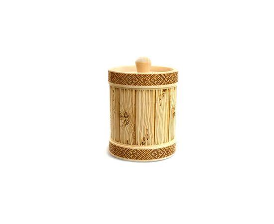 Туесок деревянный для меда D9,5 - 0,5 кг, фото , изображение 2