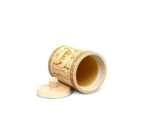 Туесок деревянный для меда D9,5 - 0,5 кг, фото , изображение 4