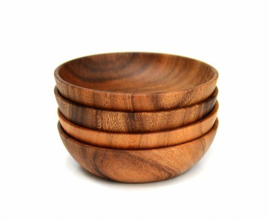 Тарелка деревянная глубокая из акации D16 H4,5, фото , изображение 5