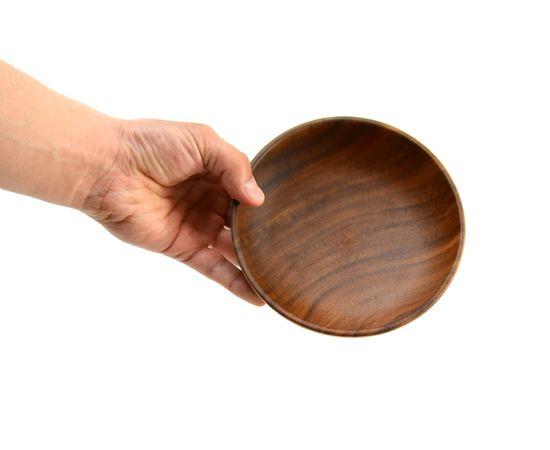 Тарелка деревянная глубокая из акации D16 H4,5, фото , изображение 7