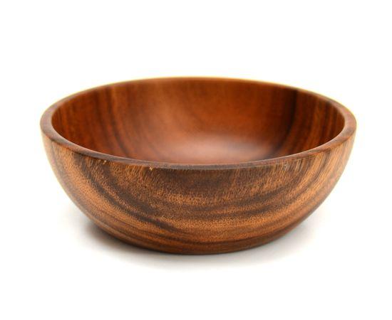Тарелка деревянная глубокая из акации D20 H7, фото , изображение 2