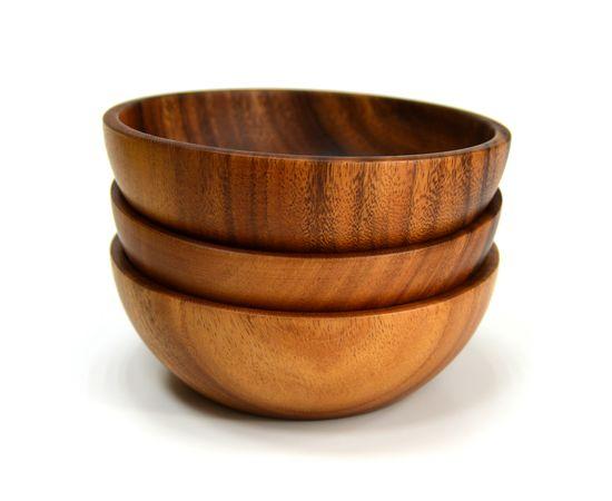 Тарелка деревянная глубокая из акации D20 H7, фото , изображение 6