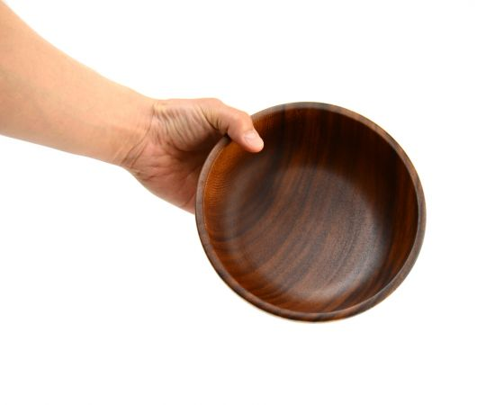 Тарелка деревянная глубокая из акации D20 H7, фото , изображение 5