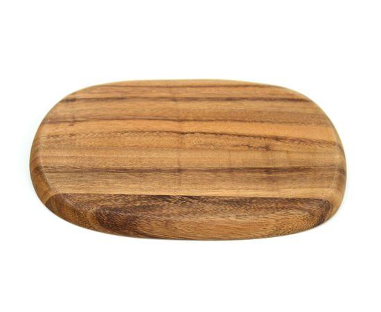 Тарелка деревянная ассиметричной формы из акации 30x20, фото , изображение 4
