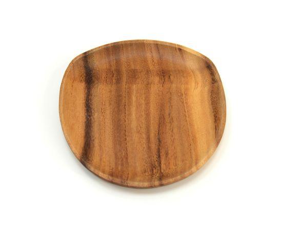 Тарелка деревянная ассиметричной формы из акации 20х20, фото , изображение 2