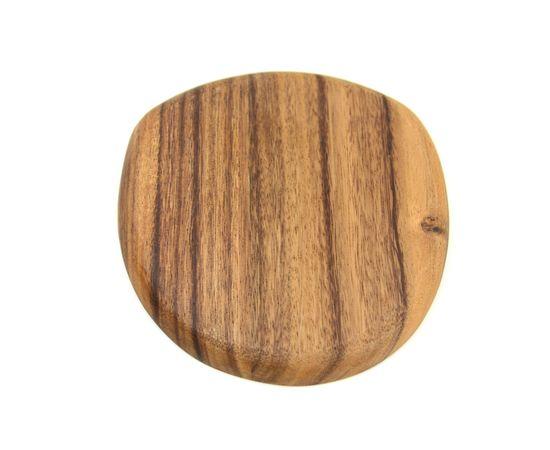 Тарелка деревянная ассиметричной формы из акации 20х20, фото , изображение 4