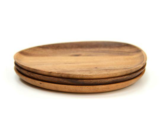 Тарелка деревянная ассиметричной формы из акации 26x21, фото , изображение 6