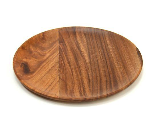 Тарелка деревянная круглая из акации D30 H2, фото , изображение 2