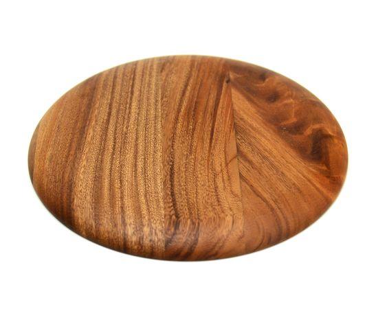 Тарелка деревянная круглая из акации D30 H2, фото , изображение 3