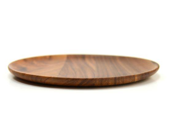 Тарелка деревянная круглая из акации D30 H2, фото , изображение 4