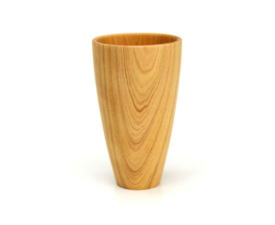 Стакан деревянный высокий светлый D8 H13, фото