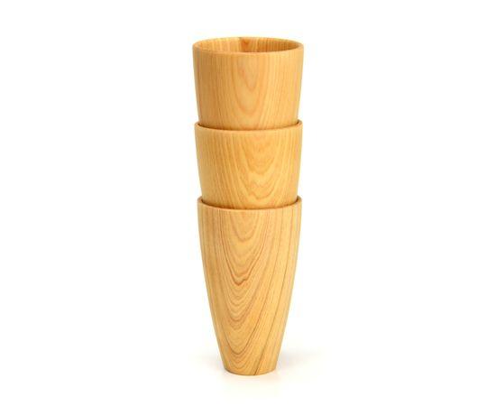 Стакан деревянный высокий светлый D8 H13, фото , изображение 4