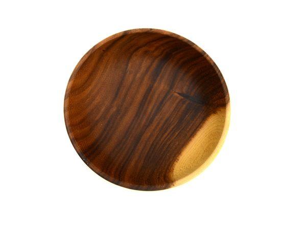 Тарелка деревянная глубокая из акации D20 H7,5, фото , изображение 7
