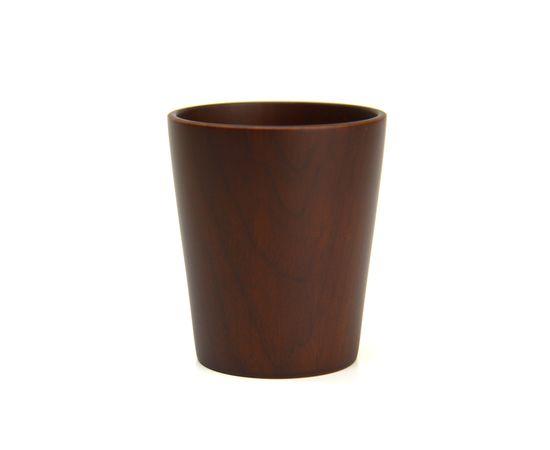 Стакан деревянный темный D8 H9,5, фото